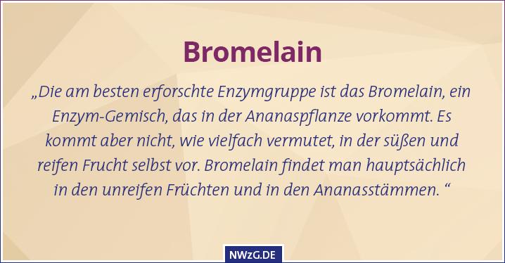 Bromelan Enzym der Ananas