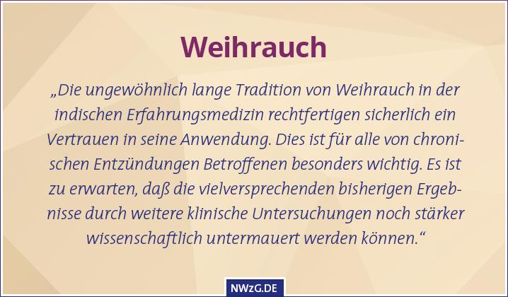 Weihrauch (Boswellia serrata) bei chronischen Entzündungen