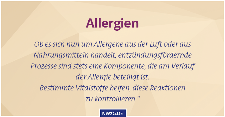 Allergien - Heuschnupfen, Pollenallergie, Hausstaub